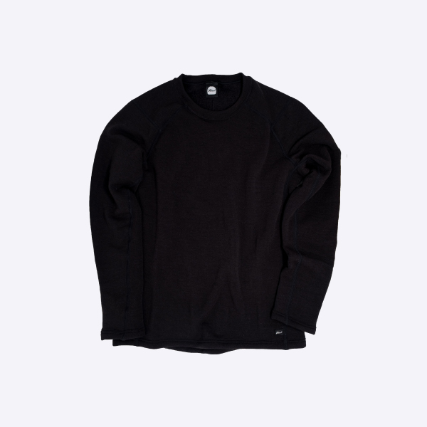 Yetina イエティナ Yetina light crew neck Black